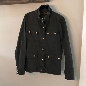 J Crew Mercantile Resin Coated Twill Jacket
